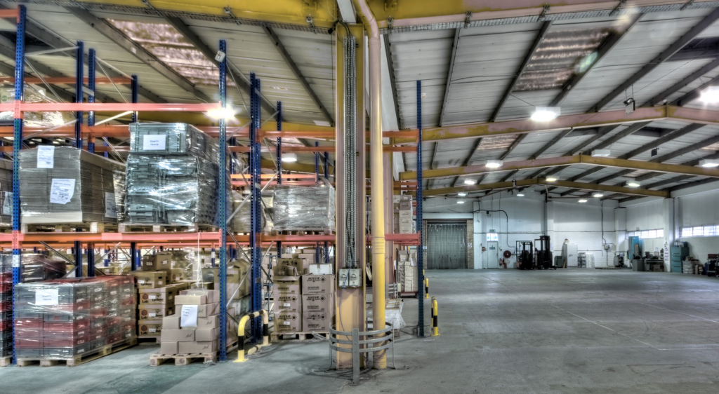 Pallet racking and clearance