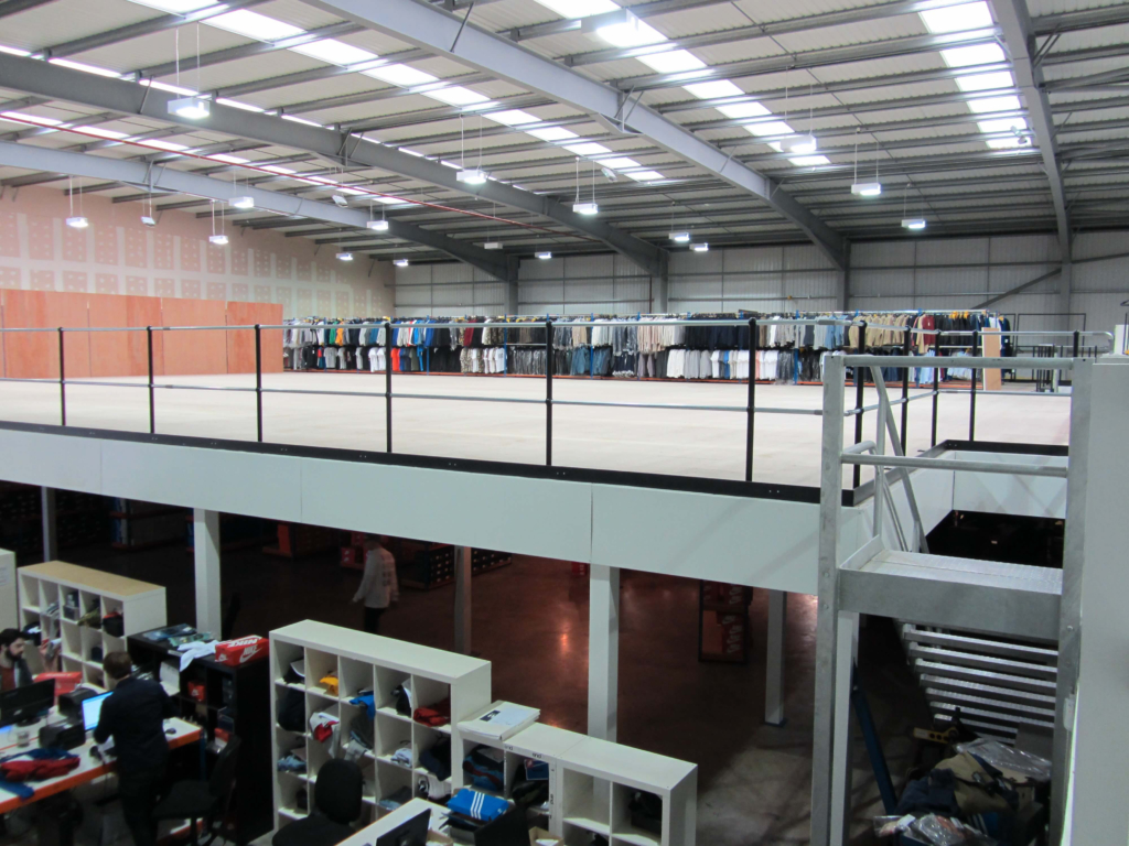 Optimising the warehouse with a mezzanine floor